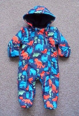 Boys All In One Winter Coat / Snowsuit M&s  6-9  Months