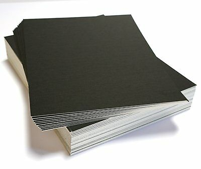 50 16x20 UNCUT mat matboard Black Color 8 Ply...8-ply thick (about 2.4 mm or 1/8