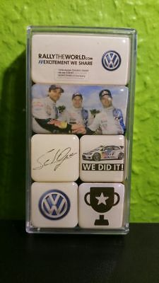 VW Magnete 6er-Set Motorsport Kollektion, Rallytheworld / selten!
