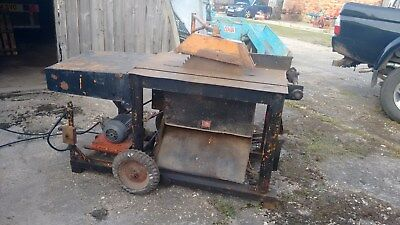 Saw Bench - Table Saw - Vintage - Log Burner - Logging