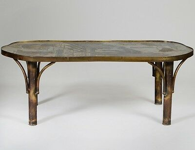 """PHILIP AND KELVIN LAVERNE BRONZE """"CHAN"""" TABLE Lot 141"""