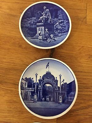 Lot of 2 small Denmark LE  Decorative Plates - Tivoli and H.C. Anderson