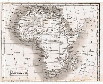 Map of Africa, possibly Victorian pre-Livingstone, on quality paper. Good cond.