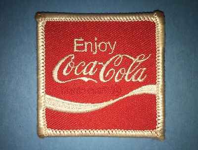 Vintage 1980's Drink Coca Cola Coke Soda Iron On Hat Hipster Jacket Patch B