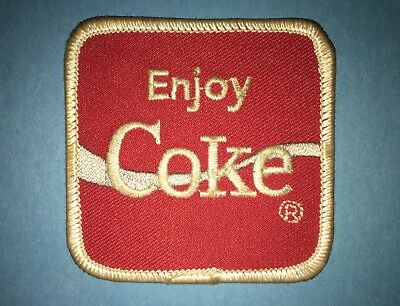 Vintage 1980's Drink Coca Cola Coke Soda Iron On Hat Hipster Jacket Patch C