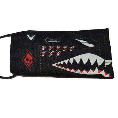 Wicked Sports Paintball Barrel Cover / Sock - Sharktooth - Black