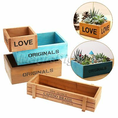 Rustic Antique Vintage Handmade Wooden Boxes/Crates Trug Kitchen Trinket Storage
