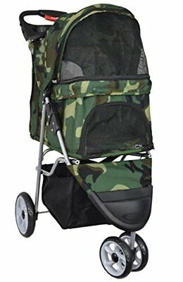 VIVO Three Wheel Pet Stroller, for Cat, Dog and More, Foldable Carrier
