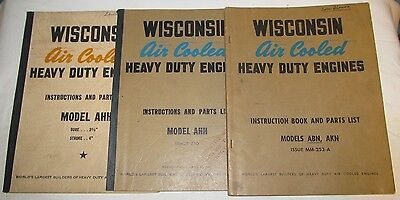 Wisconsin Hvy Duty Engine Instruction Manual/Parts Book Lot ABN/AKN AHH J0404
