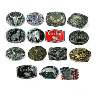 15 Styles Western Silver Belt Buckle Men For Black Leather Vintage Fashion 1 pc