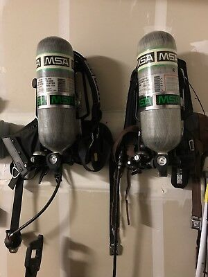 MSA Firehawk M7 SCBA each! With masks!