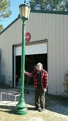 Vintage 13 Foot Cast Aluminum Street Light Wired 110