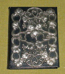 Pewter and Leather Address Book