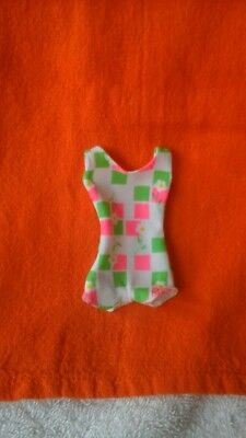 Francie doll vintage repro swimsuit white pink green flowers NRFB mint
