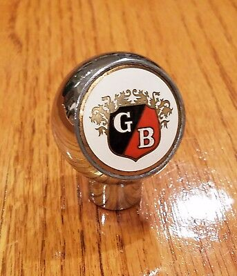 1950s GB (GRIESEDIECK BROS.) BEER chrome ball tap knob from St. Louis MISSOURI !