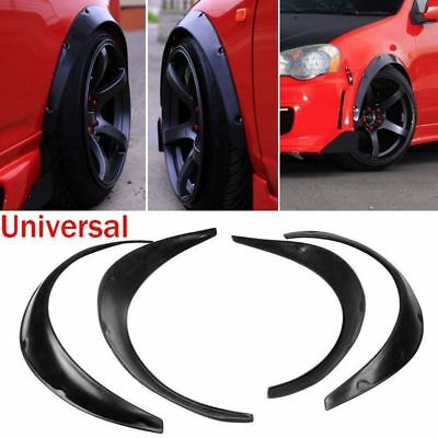 4pcs Universal Widened JDM Fender Flares Wheel Arch 2 inch ABS Car Fittings RK
