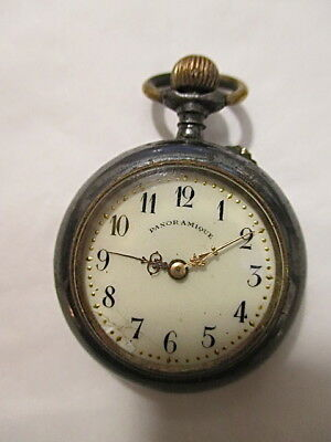 Very Rare Royalty Panoramique Antique Pocket Watch King George V & Queen Mary