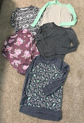 Justice For Girls Lot Tunic Tops 14 16 EUC