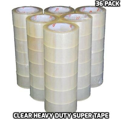 """36 Rolls 2""""x110 Yards(330' ft) Box Carton Sealing Packing Heavy Duty Tape, Clear"""