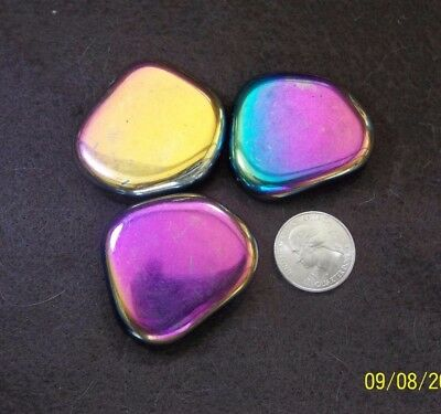 Rainbow magnetic hematite palm stones