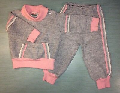 Vintage 1970s 1980s HEALTHTEX Girls Track Jogging Suit 6 M USA!