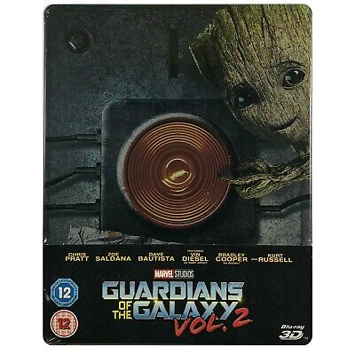 Guardians Of The Galaxy Vol 2 3D Steelbook - UK Exclusive Ltd Edition Blu-Ray