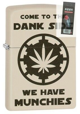 Zippo 29590 Pot Leaf Come to the Dank Side Munchies Lighter + FLINT PACK