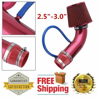 RED 2.5''-3.0'' Car Cold Air Intake Filter Induction Hose Pipe Kit & Filter SE