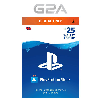 Playstation Network £25 Card - PSN 25 GBP UK Store Key / PS4 PS3 PSP - 25 Pounds