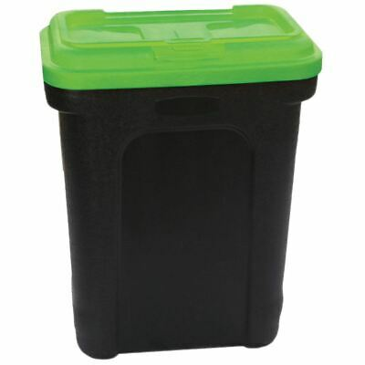 Pet Food Storage Container Animal Dry Cat Dog Bird Food Box Black Green Large