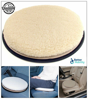 Swivel Seat Cushion Car Chair Rotating Mobility Aid Home Office Easy Access UK