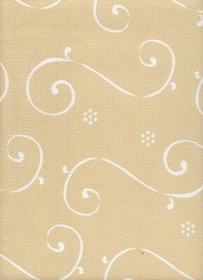 14 count DMC Aida Impressions Cross Stitch Fabric Arabesque Beige 49x77cms