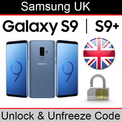 Samsung Galaxy S9/S9+ Unlock & Unfreeze Code (ALL UK Networks Supported)