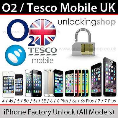 Tesco Mobile/O2UK iPhone Factory Unlocking Service (For AL models up to 7 Plus)