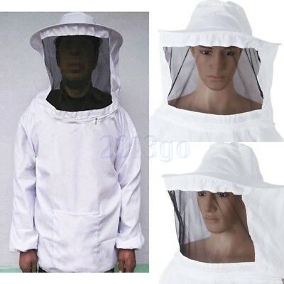 Veste d'apiculture Veil Bee Keeping Suit Hat Pull Over Manteau de protection HG