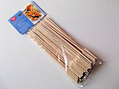 Tala 50 x Bamboo wooden cocktail sticks long 18cm skewers,canapes, burger, buffe