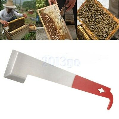 Outil apiculture J Forme Curved Tail Bee Hive Hook Rasoir acier inoxydable HG