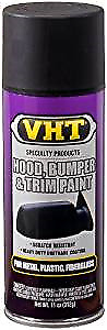 VHT Hood Bonnet & Bumper & Trim Spray Paint Satin Black Urethane Coating SP27