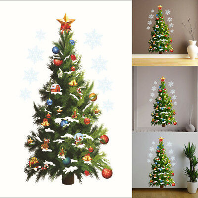 Large Christmas Art Wall Sticker Removable Decal Home Decor Christmas Xmas Tree
