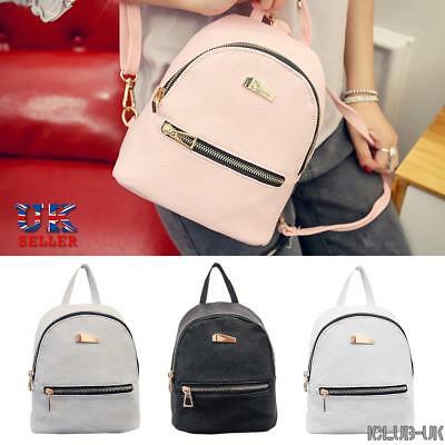 Womens PU Leather Backpacks Ladies Mini Travel Rucksack Handbags School Bag Mini