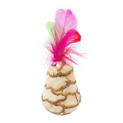 Natural Matatabistic Feathered Tumbler Pet Cat Kitten Chew Treat  Toy K1B