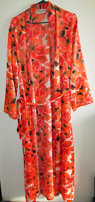 Vintage Pierre Cardin Size Medium Floral Bed Robe Dressing Gown