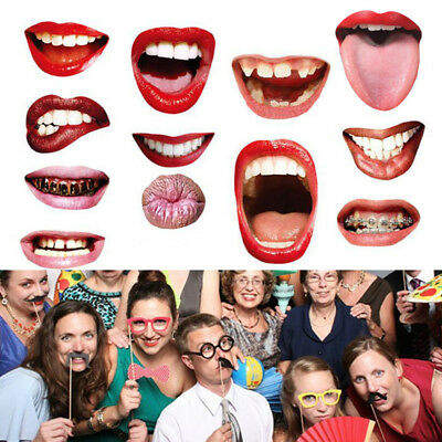 20Pcs DIY Masks Photo Booth Props Mustache On A Stick Birthday Wedding Party