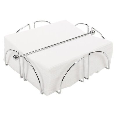 Chrome Wire Serviette Napkin Holder Dispenser Kitchen Dining Room Table Decor