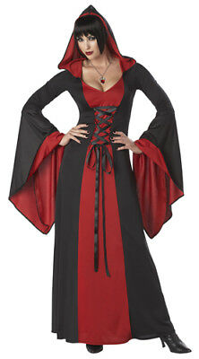 Sexy Deluxe Hooded Robe Gothic Adult Halloween Costume