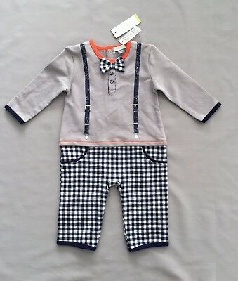 NWT PETIT LEM layette ALL IN ONE / ROMPER 6 months + SZ 9 MONTHS