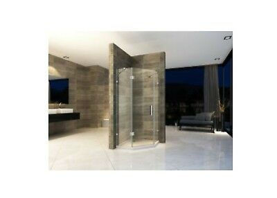 Shower Door Frameless,Includes 2 side panels and chrome fittings
