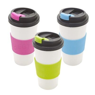 500ml Double Wall Drinking Warm Cup Coffee Tea Travel Thermal Mug Screw On Lid