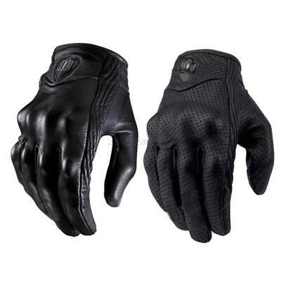 Touch Screen Leather Glove For Motorcycle Bicycle Riding Racing Protective Armor
