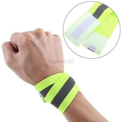 Outdoor Safety High Visibility Straps Unisex Adjustable Reflective Vest+Bracelet